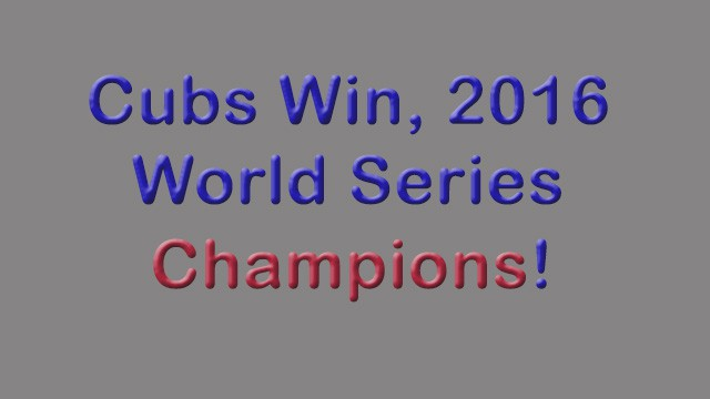 Cub's are Champions!